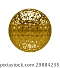 Isolated Golden golf Ball with white background 29884235