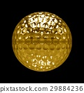 Isolated Golden golf Ball with black background 29884236