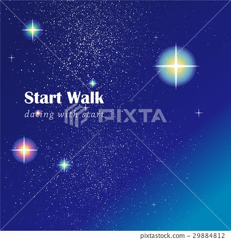 Blue starry sky 29884812