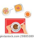 Pancakes, Porridge And Coffee Classic Breakfast 29885089
