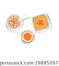 Porridge, Pancakes And Orange Juice Set Of Classic 29885097