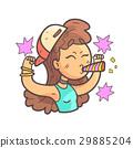 扇子 运动 女孩 29885204