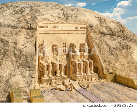 Great temple of Abu Simbel in Egypt 29885528