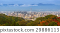 Cityscape of Kyoto with tower at autumn, Japan 29886113