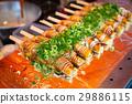 Japanese street food in Kyoto. Okonomiyaki 29886115