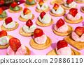 Japanese daifuku sweets with fresh strawberry 29886119