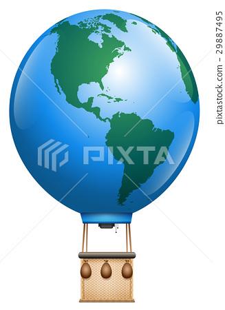 Hot Air Balloon Planet Earth 29887495