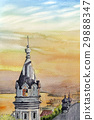 하코다테 항구 황혼 스케치 그림 29888347