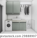 beautiful laundry room with clean condition 29888907