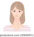 成熟的女人 一個年輕成年女性 女生 29888951