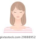 成熟的女人 一個年輕成年女性 女生 29888952