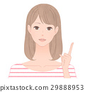 A woman pointing to a finger 29888953