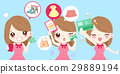 cartoon woman are shopping 29889194