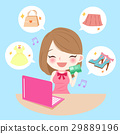 woman with internet shopping 29889196