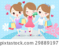 cartoon woman are shopping 29889197