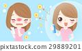 cartoon girl get hay fever 29889201