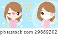 cartoon girl get hay fever 29889202