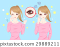 woman with eye pain 29889211