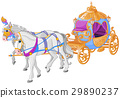 carriage, horse, golden 29890237