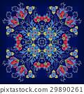 Design for square pocket, shawl, textile. Vector 29890261