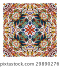 Design for square pocket, shawl, textile. Vector 29890276