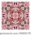 Design for square pocket, shawl, textile. Vector 29890278