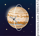 Jupiter and spacecraft art, vector illustration 29891471