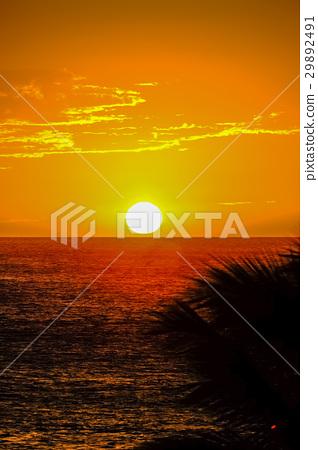 Sunset on Hawaii island 29892491