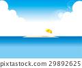 Sandbar and beach umbrella 29892625