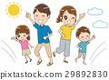 건강한 가족의 일러스트 (여름) 29892830