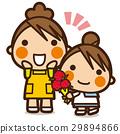 เด็กผู้หญิง,แม่,คาร์เนชั่น 29894866