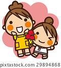 เด็กผู้หญิง,แม่,คาร์เนชั่น 29894868