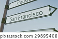 San Francisco direction sign on road signpost with 29895408