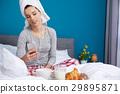 breakfast, female, bed 29895871