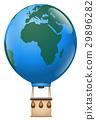 Europe Africa Hot Air Balloon Trip Planet Earth 29896282
