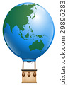Hot Air Balloon Asia Australia World 29896283