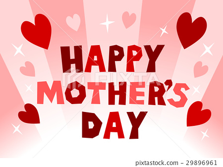 母亲节快乐母亲节心脏和标志 29896961