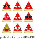 watermelon face, emojis 29899490