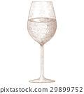 wine glass sketch 29899752