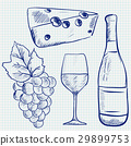 wine sketch vector 29899753