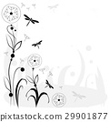 vector drawing with flowers and insects 29901877
