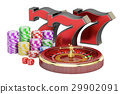 Casino, gambling and jackpot concept. 3D rendering 29902091