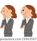 辦公室工作者女性表情 29903567