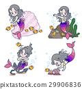 美人魚 人魚 全身 29906836