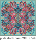 authentic silk neck scarf or kerchief square 29907744