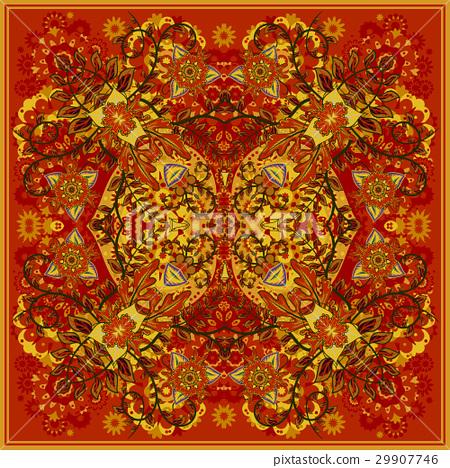 authentic silk neck scarf or kerchief square 29907746