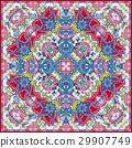 Bandana Print with tribal ethnic ornament, silk 29907749