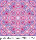 Bandana Print with tribal ethnic ornament, silk 29907751