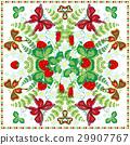 Decorative color floral background, strawberry 29907767