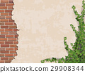 concrete wall ivy and brick 29908344